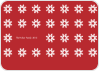 Christmas Snowflake Photo Cards - Back View