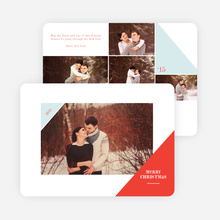 Corners Christmas Photo Cards - Red