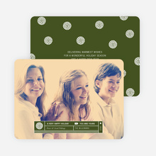 Family Label Holiday Photo Cards - Green
