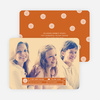 Family Label Holiday Photo Cards - Orange