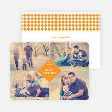 Happy Together Holiday Photo Cards - Orange
