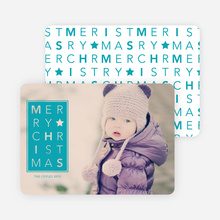 Merry Christmas Letters - Blue