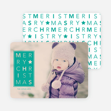 Merry Christmas Letters - Green