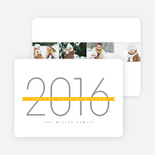 New Year, New Beginnings Cards - Yellow