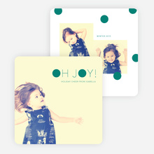 Oh Joy Dots Holiday Cards - Green