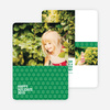 Snowflake Pattern Holiday Cards - Green