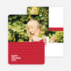 Snowflake Pattern Holiday Cards - Red