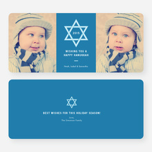 Star of David Hanukkah Cards - Blue