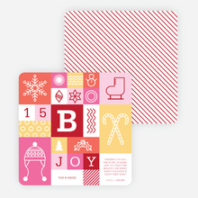 Winter Things Holiday Cards - Pink