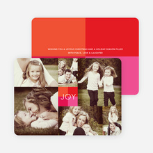 Collage of Joy Multi-Photo Holiday Cards - Pink