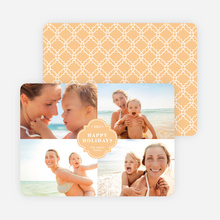 Family Crest Holiday Photo Cards - Orange