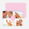 Family Crest Holiday Photo Cards - Pink