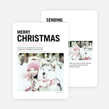 Merry Christmas Newsflash Cards - Black