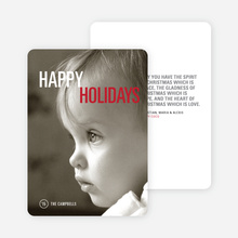 Simply Photo Christmas Card - Red