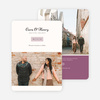 Rectangle Modernist Wedding Save the Date Cards - Purple