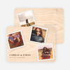 Instant Photo Save the Date Cards with 4 Photos - Plywood