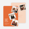 It's Raining Photos Save the Date Photo Cards - Orange