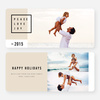 Simply Stated Holiday Cards - Beige