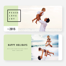 Simply Stated Holiday Cards - Green