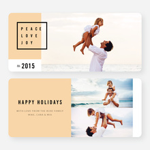 Simply Stated Holiday Cards - Orange