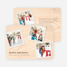 Classic Collection Holiday Photo Cards - Pale Apricot