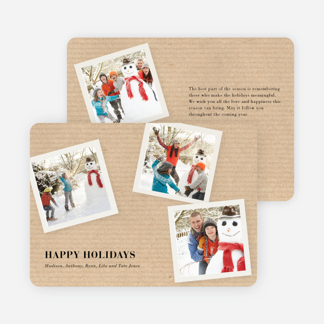 Classic Collection Holiday Photo Cards - Oatmeal