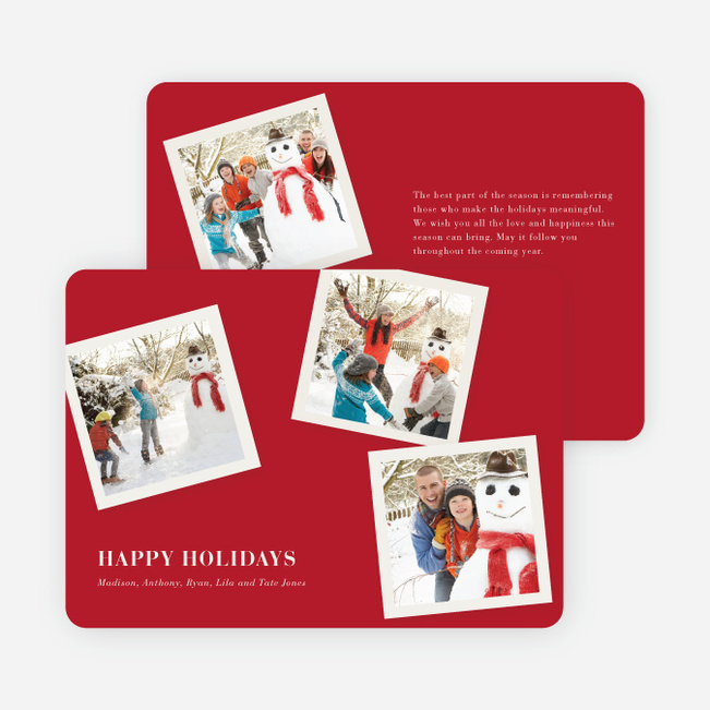 Classic Collection Holiday Photo Cards - Scarlet