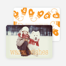 Mittens and Warm Wishes - Orange