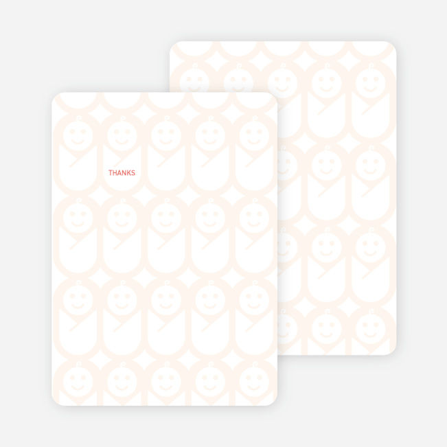 Stationery: 'Swaddle Me This' cards. - Apricot