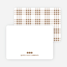 Notecards for the 'Freshly Minted Monograms' cards. - Mocha