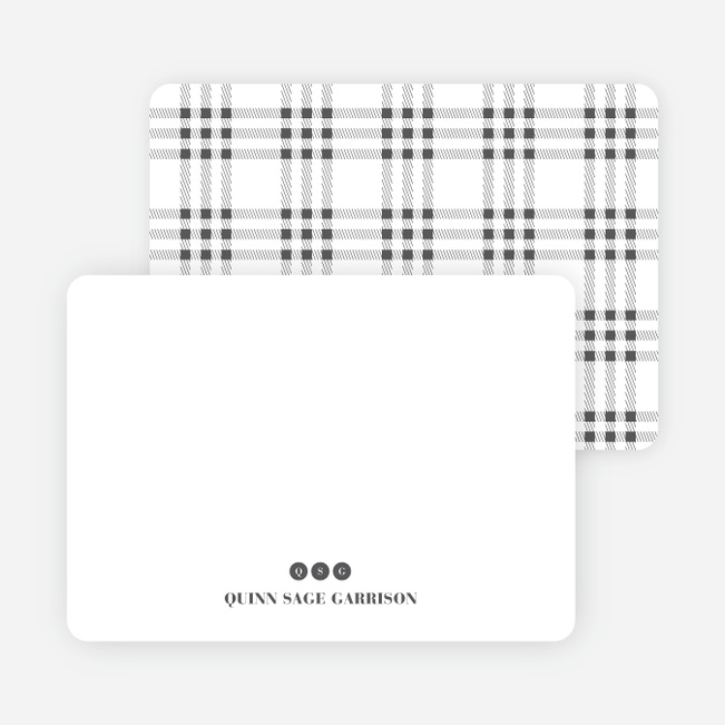 Notecards for the 'Freshly Minted Monograms' cards. - Charcoal