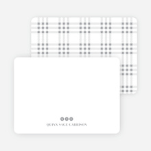 Notecards for the 'Freshly Minted Monograms' cards. - White