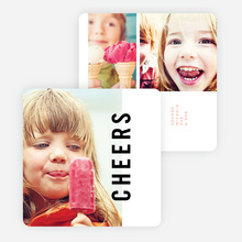 Big Cheers New Year Cards - Red