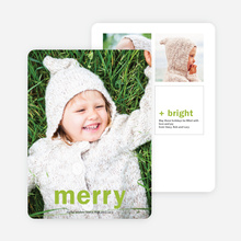 Big Wishes Holiday Christmas Cards - Green