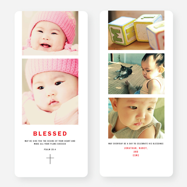Blessed Cross Christmas Cards - Black