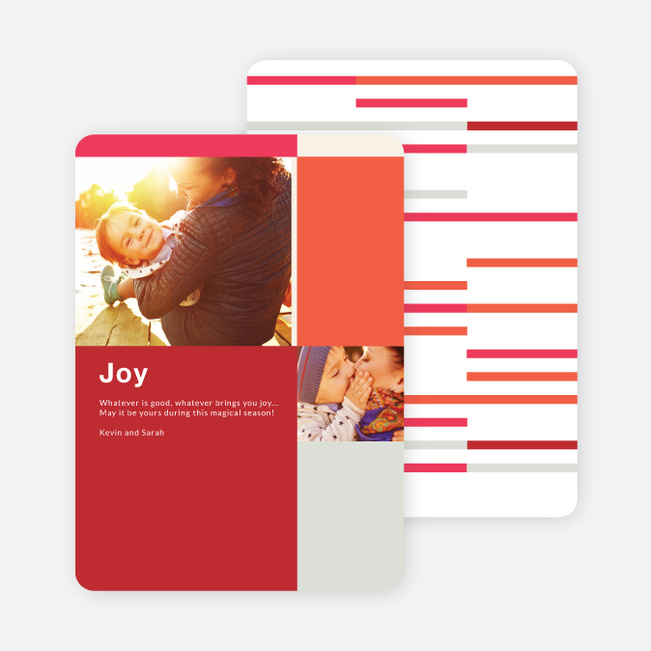 Blocks & Lines Holiday Cards - Red