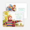Border & Outlines New Year Cards - Green