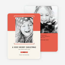 Bracket Photo Holiday Cards - Red