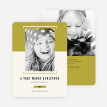 Bracket Photo Holiday Cards - Green