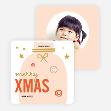 Candy Fun Christmas Cards - Red