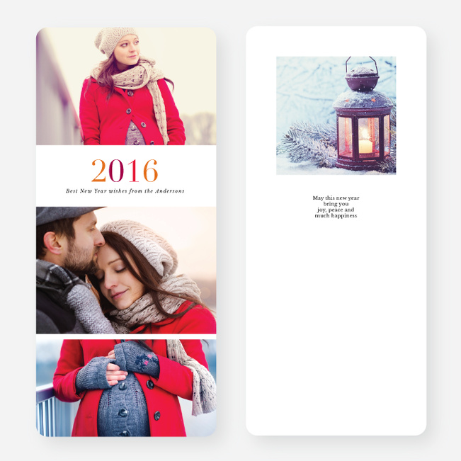 Cheery Type Holiday Cards - Multi