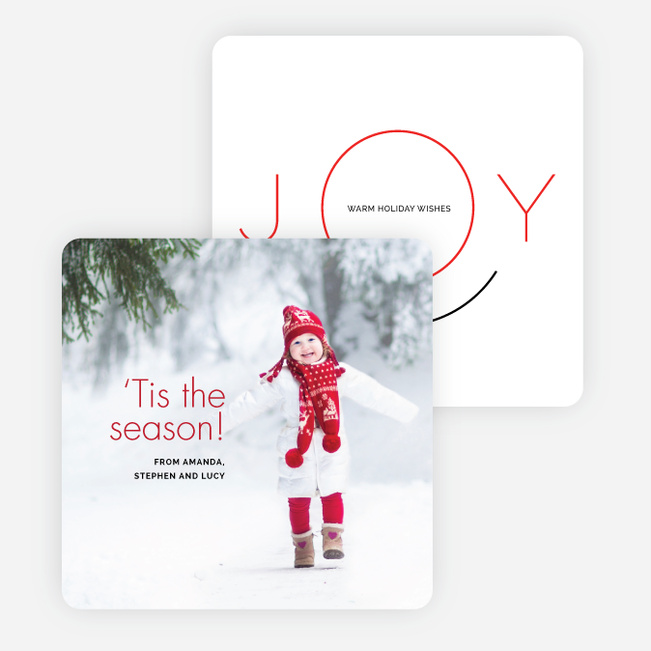 Face of Joy Holiday Cards - Red