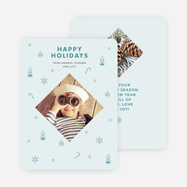 Festive Icons Holiday Cards - Blue