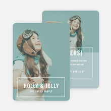 Holly & Jolly Christmas Cards - White