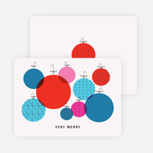 Illustrated Ornaments Holiday Cards - Red