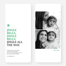 Jingle Bells Holiday Cards - Red