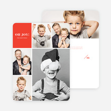 Joy Grid Holiday Cards - Red