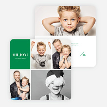 Joy Grid Holiday Cards - Green