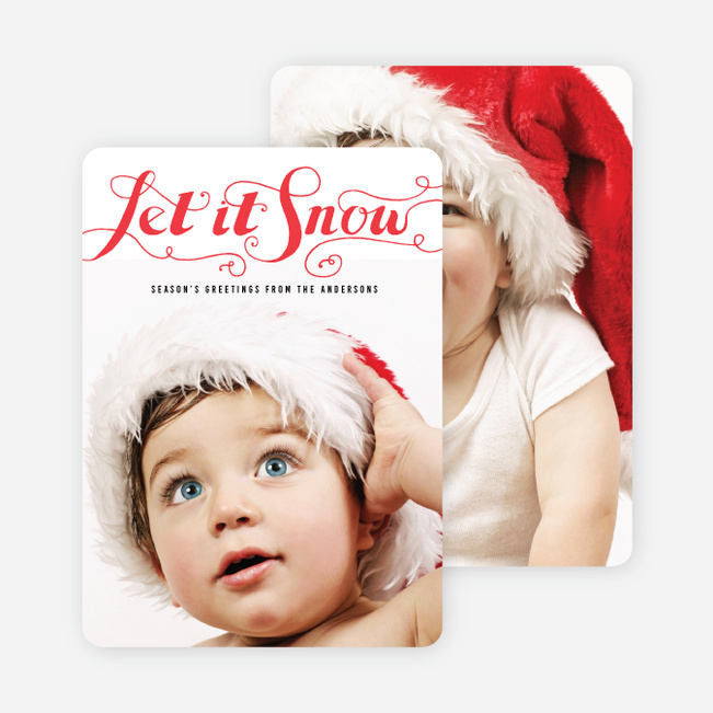 Let It Snow Holiday Cards - Red