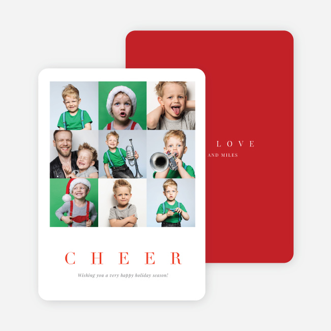 Lots of Squares Holiday Cards - Red